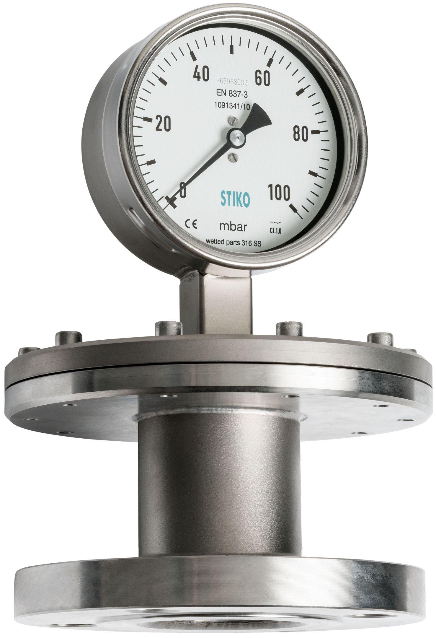 Đồng hồ áp suất màng loại hai mặt bích