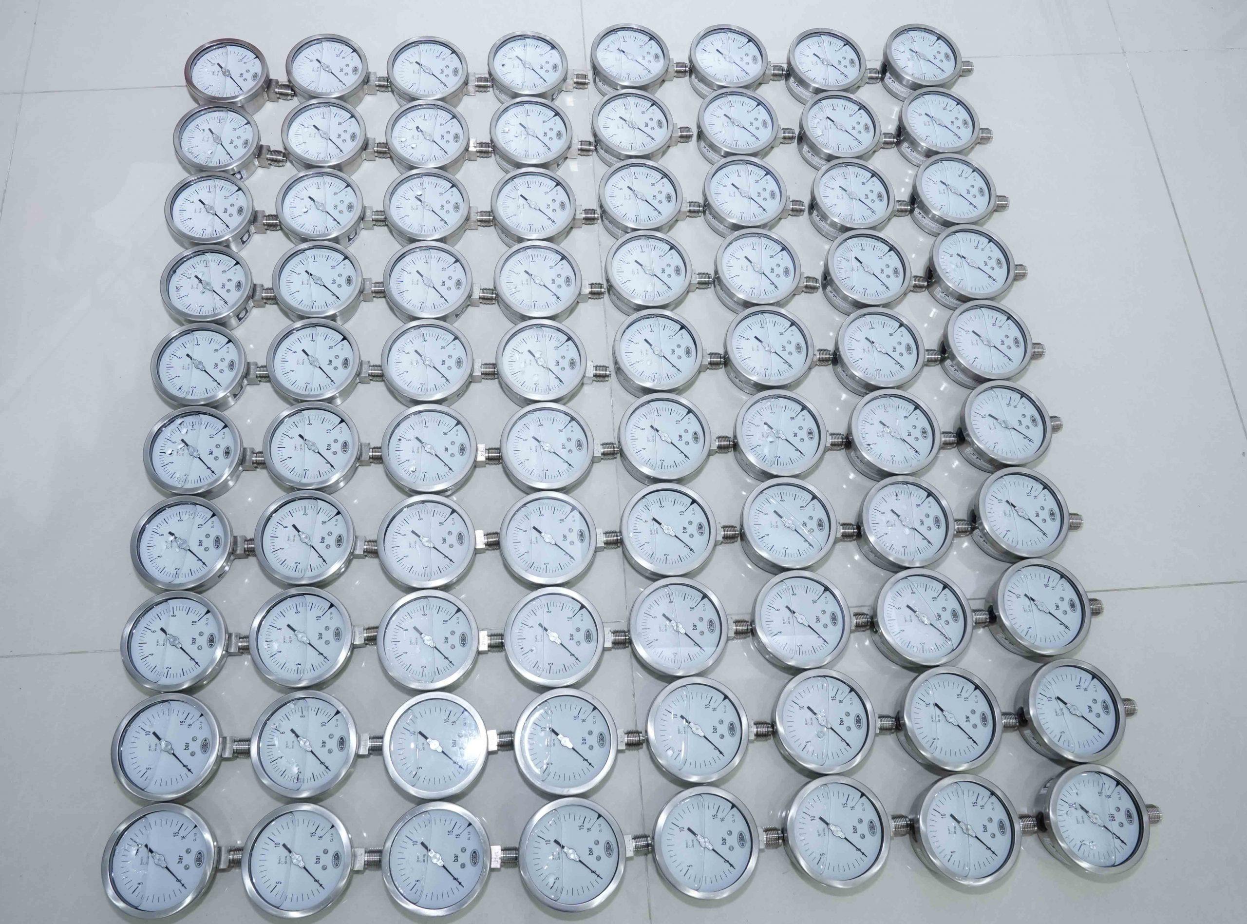 đồng hồ đo áp suất nước - khí nén
