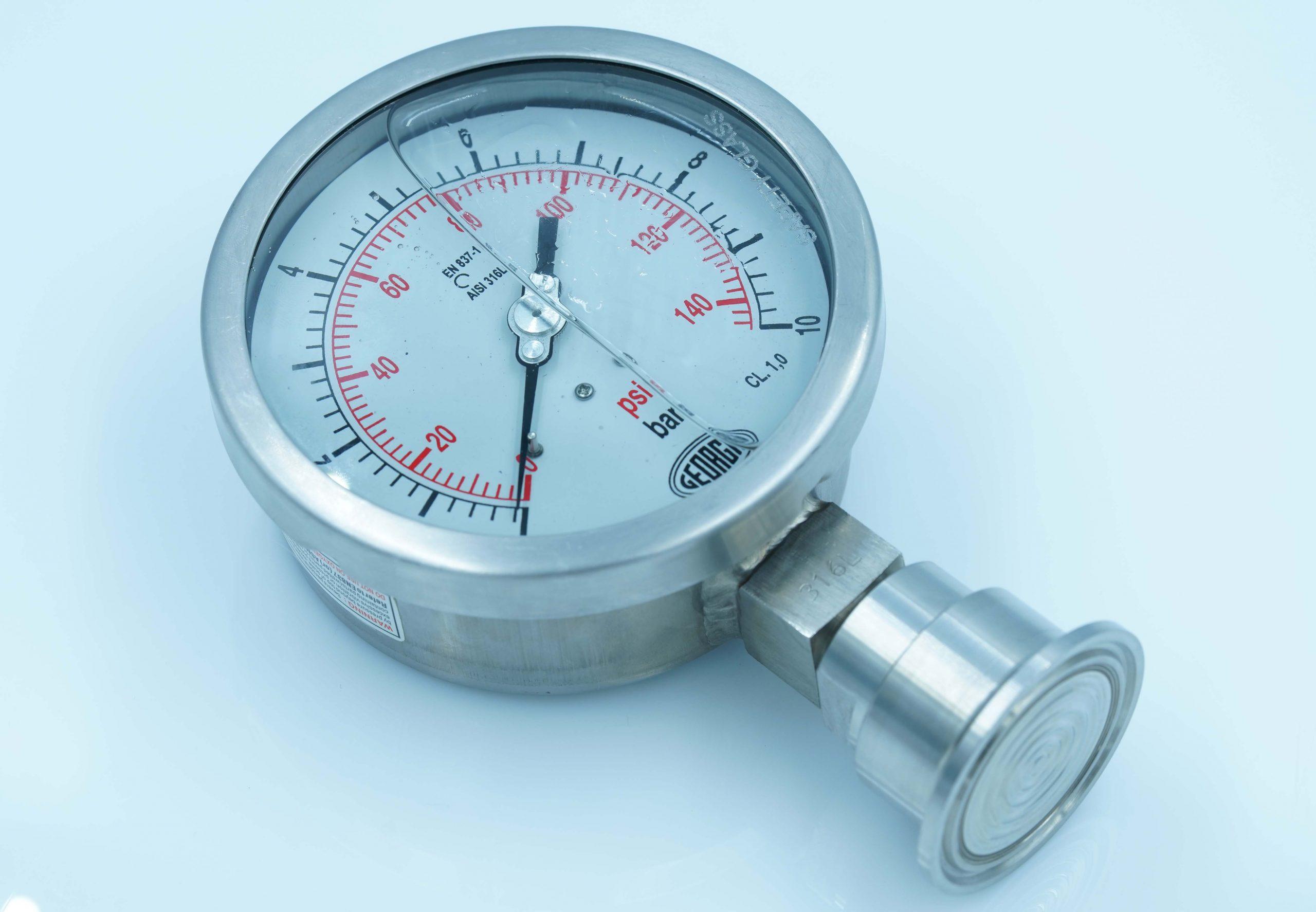 Đồng hồ đo áp suất màng Clamp