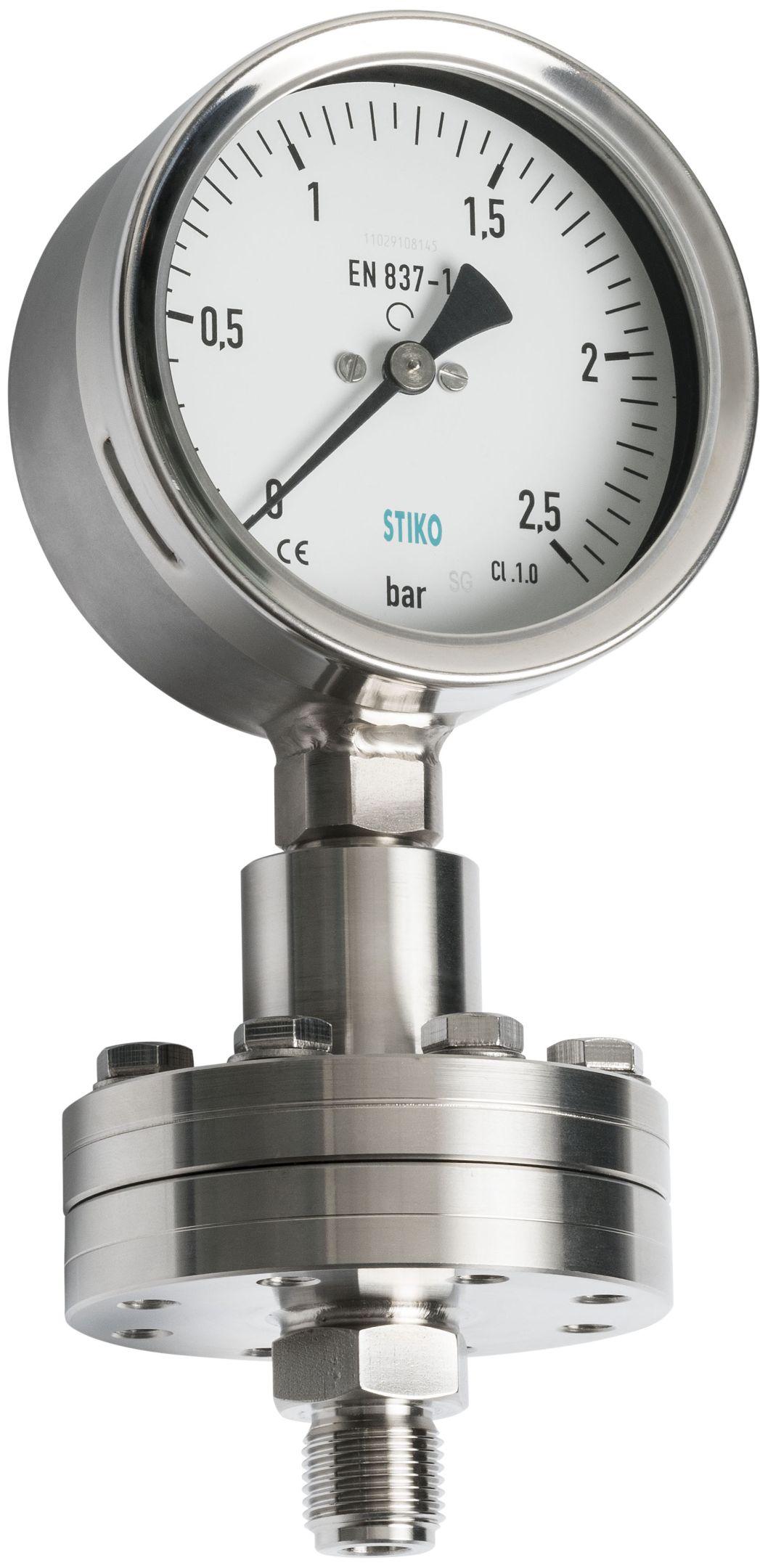 Đồng hồ đo áp suất màng loại ren kết nối