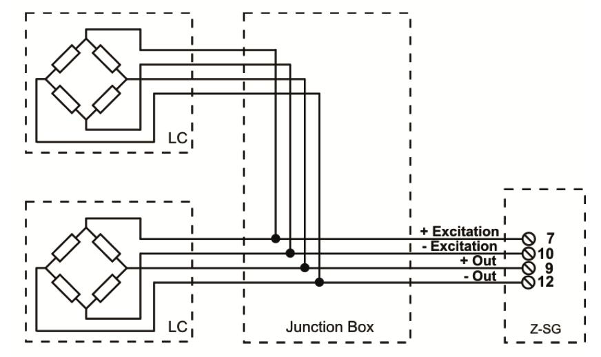 Kết nối Loadcell 4 dây với Z-SG