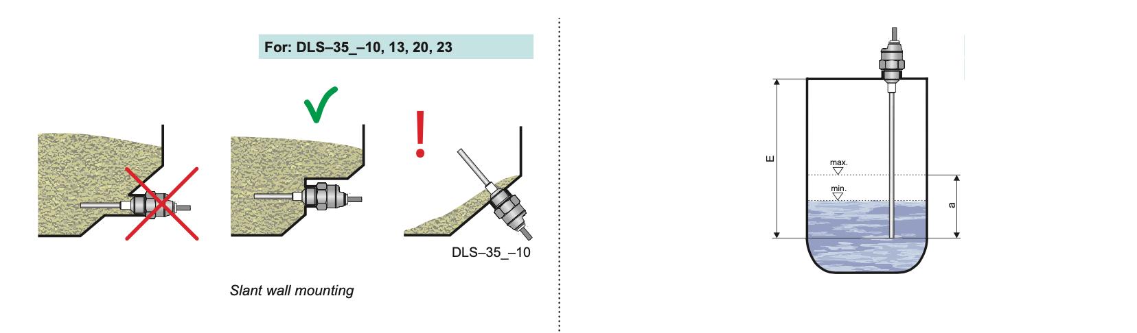 Ứng dụng cảm biến báo mức điện dung DLS-35N