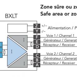 cách đấu dây bộ chia tín hiệu 4-20mA Atex phòng nổ