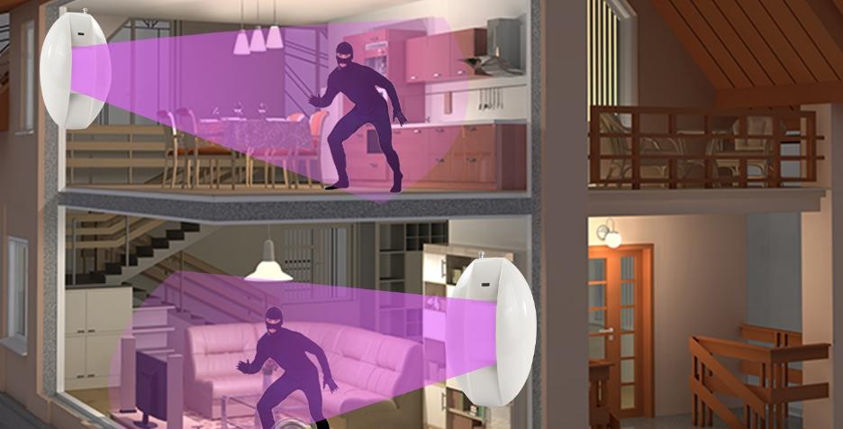 cảm biến chống trộm sử dụng bức xạ hồng ngoại