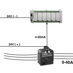 Cách đấu dây biến dòng T201