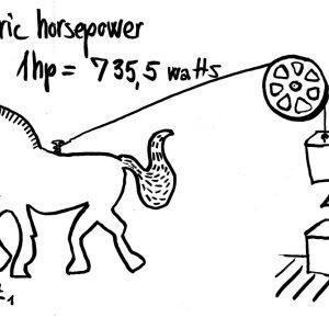 Quy đổi 1 ngựa bằng bao nhiêu W?
