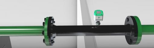 Lắp đặt đồng hồ đo lưu lượng Gas VA570 cho khí nén