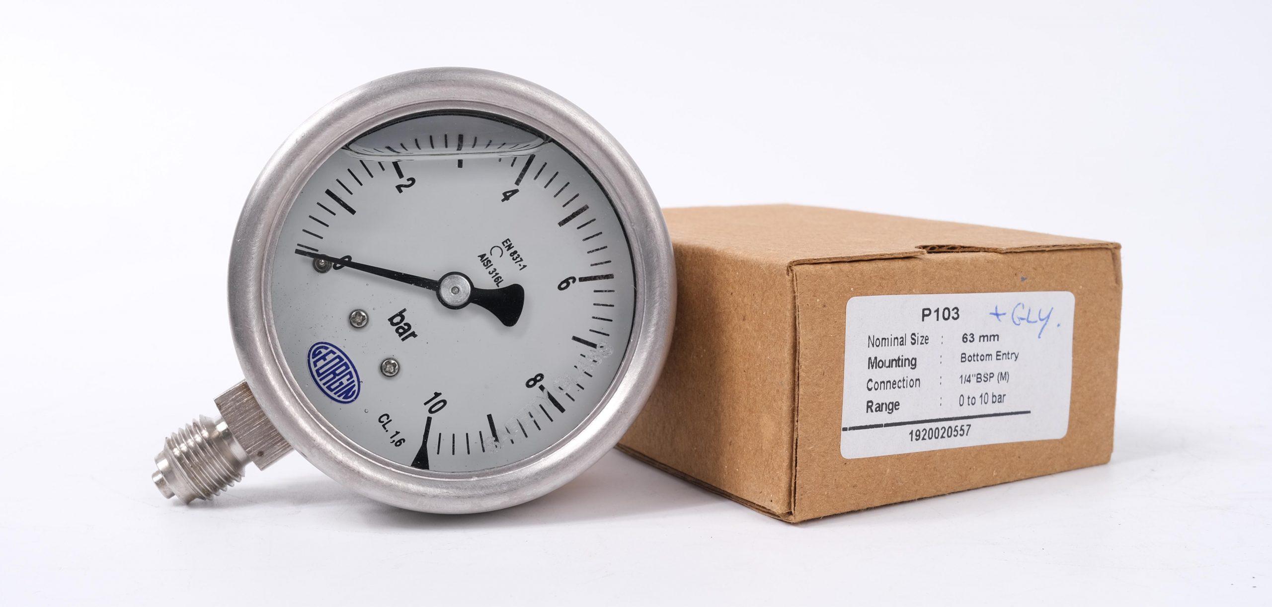 Đồng hồ đo áp suất 0-10 bar M5000 Case 63mm