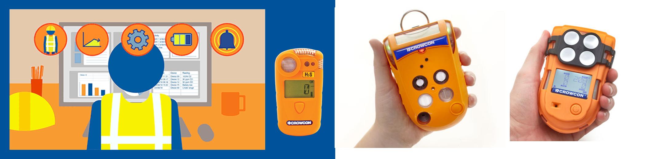 Cảm biến phát hiện khí Gas cầm tay Tetra 3 | Crowcon - UK
